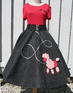 Hand-Made skirt... and poodle applique... any size infant to plus size 4X.  Nine colors to choose from for skirt. On eBay: ID = glorsstore