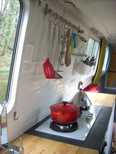 Use IKEA organizers in the camper.
