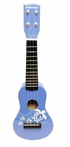 "New Blue 21"" Hawiian Luau Party Toy Ukulele Guitar with Nylon Strings by Bridgecraft. $13.99. It is 21 inches long with great gloss finish and full wood construction.Nylon strings (4 strings ) that comes with pic.The item is intended to be used as a toy."