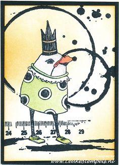 Whimsical Beaked Guy in Crown en sheet 1455 van Viva Las Vega Stamps.