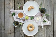 Blueberry Bagel for Breakfast