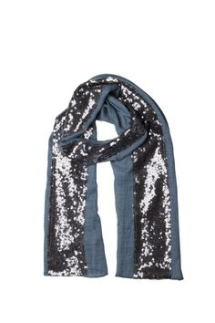 Noosa Living 'denim' sequin panel scarf available at Heel to Toe, Sandgate