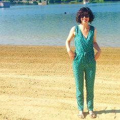 Combinaison pantalon josie mixée avec le haut de la robe océan, la maison victor