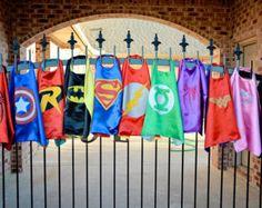 SUPERHERO CAPE - Superman, Batman, Spider man, Bat Girl, Wonder Woman, Super Girl, Green Lantern, Flash, Iron Man, Hulk, & Thor child capes