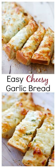 Cheesy Garlic Bread - Turn regular Italian bread into buttery & cheesy garlic bread with this super easy 20 mins recipe | rasamalaysia.com | #bread