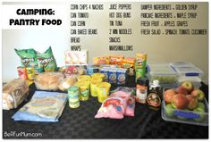 Preparing, Organising & Storing food for camping #camping #food