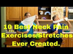 (27) Neck Pain? Using a Towel to Decrease Neck Pain! - YouTube