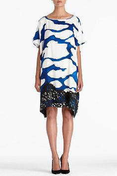 DVF - tent dress with clouds. YAY!