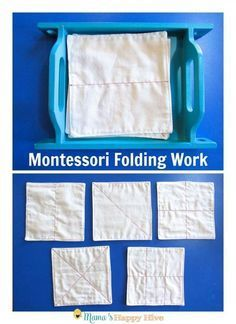 This Montessori Care of Self post includes dressing frames, folding work, and independently putting clothes away. - www.mamashappyhive.com