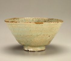 Tea bowl, second half 16th century. Unidentified, Korean, Joseon period. Porcelain with transparent, pale blue glaze. H: 8.0 W: 16.0 cm. Jinju, Korea. Gift of Charles Lang, Freer F1902.68 © 2014 Smithsonian Institution