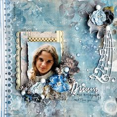 Altered mail box and a layout created with Flying Unicorn December KOM