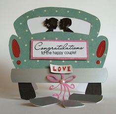 Fun Shape Card for the Happy Couple!