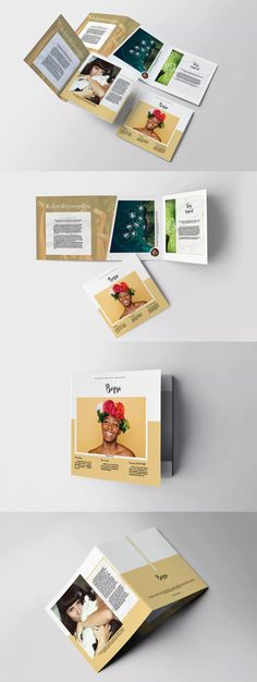 Beqsa Square Trifold Brochure Template InDesign INDD
