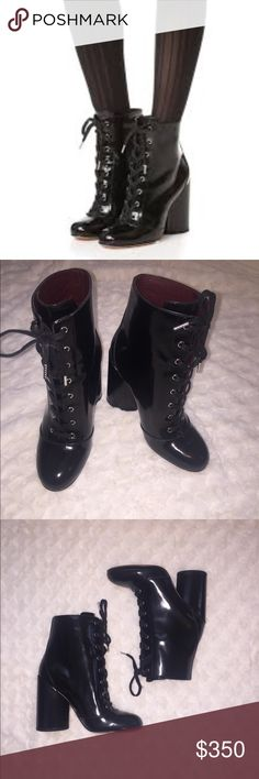Marc Jacobs Tori Lace Up Calf Boots Extra Stylish Lace Up Booties!   Never Worn, Still With Original Retail Tags, No Box  No Trades  100% Authentic  If Buying Full Price And Would Like To Verify Authenticity With Posh Concierge, I Will Lower My Price By The Cost Of The Concierge Service. Happy Poshing! 💗   Open to Reasonable Offers Marc Jacobs Shoes Lace Up Boots