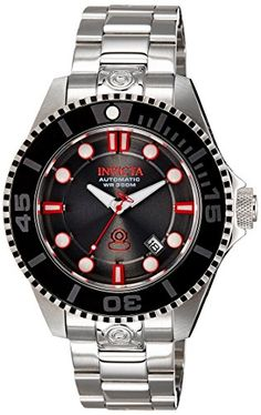 Invicta Mens Pro Diver Automatic Stainless Steel Casual Watch ColorSilverToned Model 19802 *** Click image for more details. (This is an affiliate link and I receive a commission for the sales)
