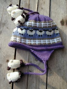 Blue Kid's Sheep Hat by woodsmokewoolworks on Etsy, $40.00