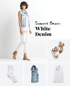 Shake Up Your White Denim