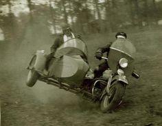 We have a Ural motorcycle with a sidecar. My husband loves to do this around corners. don't worry- it won't flip over :)