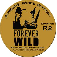 Join us Sumsaré Wines in our cause towards Rhino protection in South Africa. Look out for all our wines with this sticker on.