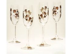 Hand Painted Champagne Glasses  Metallic by HandPaintedPetals, $96.00