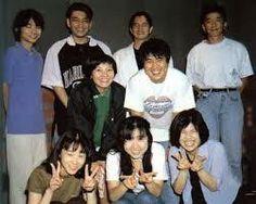 Ishida Akira (purple T-shirt) circa 1988-1990s