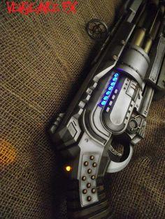 New Nerf Doomlands Vagabond blaster custom paint job and lighting by Vengeance FX.