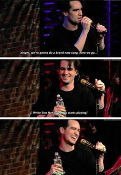 When he still got endless amusement out of this joke. | 19 Times Brendon Urie Was Too Precious For This World