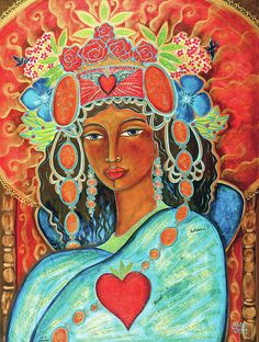 Queen of Her Own Heart Painting by Shiloh Sophia McCloud