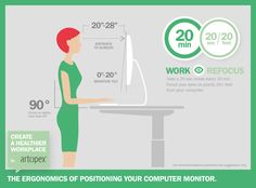 Create a healthier workplace with Artopex - ergonomic positioning of your computer monitor.