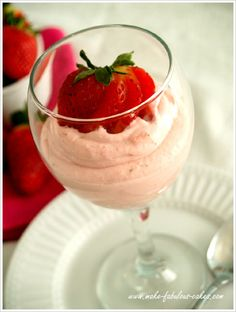 Strawberry Mousse recipe by Make Fabulous Cakes - for serving or as cake filling