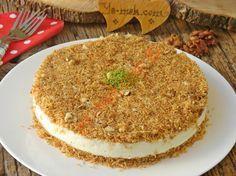 Muhallebili Kadayıf Pastası Resimli Tarifi - Yemek Tarifleri Turkish Sweets, Hummus, Deserts, Food And Drink, Pudding, Yummy Food, Cooking, Ethnic Recipes, Cakes