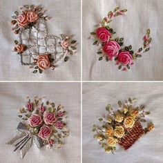 """336 Beğenme, 8 Yorum - Instagram'da Berrin Şengöz (@berrin_sengoz): """"Küçük mutluluklar köşesi...#brezilyanakışı#rokoko#hoby #nakış#embroidery#roses…"""""""