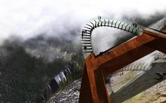 Rendering of newest tourist attraction in Alberta, Canada, the Discovery Walk. Overlooking the Sunwapta Valley along the Columbian Icefields . I'm in!