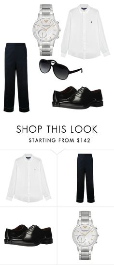 """""""formal outfit"""" by archnapant ❤ liked on Polyvore featuring Polo Ralph Lauren, H Beauty&Youth, Massimo Matteo, Emporio Armani, Gucci, men's fashion and menswear"""