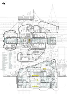 See submissions See students' projects · · · · · · · · · · Architecture Collage, Architecture Graphics, Architecture Drawings, Architecture Portfolio, Concept Architecture, Architecture Design, Sci Arc, Canterbury, Section Drawing