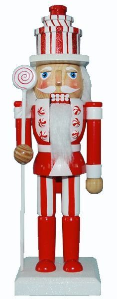 Retail - Nutcracker Ballet Gifts - 10 inch Nutcracker - Candy Cane with Gift Hat, $10.00 (http://www.nutcrackerballetgifts.com/10-inch-nutcracker-candy-cane-w-gift-hat/)