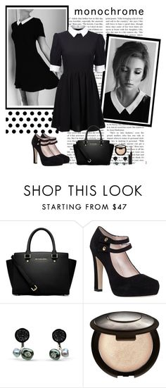 """""""In the Night Sky"""" by polybaby ❤ liked on Polyvore featuring MICHAEL Michael Kors, Kate Spade, Becca, shu uemura and monochrome"""