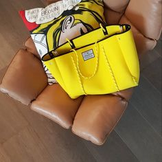 Totes Me! Neoprene bag in yummy yellow ☀️ Everything you need will fit seamlessly inside our neoprene tote: from gym gear to beach essentials, this is your ultimate any-occasion bag with a sleek design and generous size. #thismustbe_neolove #neoprenebag