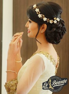 Christian Wedding Hairstyles For Gown Couture - priyanka Bridal Hairstyle For Reception, Bridal Hairstyle Indian Wedding, Bridal Hair Buns, Wedding Bun Hairstyles, Bridal Hairdo, Hairdo Wedding, Short Wedding Hair, Short Hair, Engagement Hairstyles