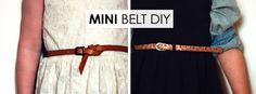 Mini Belt DIY - how to turn one of your old belts into a belt for your little one | Hellobee
