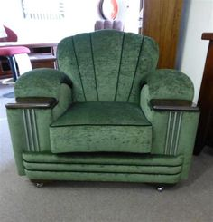 Art Deco Style Lounge And Chair Custom Designed - Timeless ...
