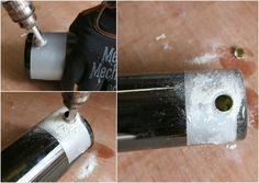 Glass usually breaks when you apply pressure from a drill, but this can be remedied with proper lubrication, gentle pressure and patience. When it comes to drilling a hole in glass, having the right tools and process also helps. For added safety, drill glass in an area away from your normal household traffic, such as a garage or basement, for...