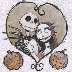 Jack and Sally by suthnmeh on deviantART