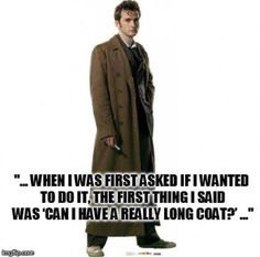David Tennant, everyone. My first and my FAVORITE doctor. Ever.