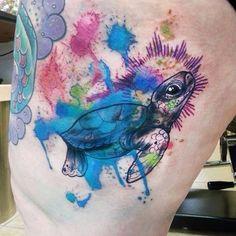beautiful tattoo by @milky_tattoodles