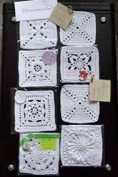 Mit Hand und Herz: Ein Traum in Weiss Filet Crochet, Crochet Motifs, Granny Square Crochet Pattern, Knit Or Crochet, Crochet Doilies, Crochet Handbags, Crochet Purses, Crochet Beach Bags, Fingerless Gloves Crochet Pattern
