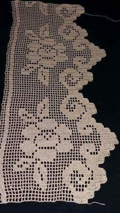 crochet lace border  ile ilgili görsel sonucu