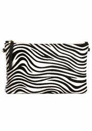 1951 Maison Francaise  Zebra Clutch Bag - Black & White