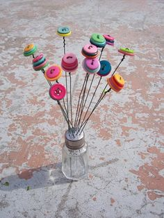really great easy, button bouquet step by step tutorial