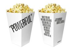 Monday Movie Club branding - With Monday Movie Club branding, you won't be seeing the familiar red and stripy popcorn packaging when you get your favorite film-watching s. Popcorn Packaging, Packaging Ideas, Movie Club, Packaging Design Inspiration, Box Design, Branding, Tableware, Glass, Popcorn Boxes